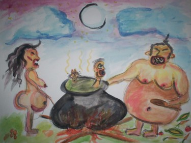 """Painting titled """"""""Flesh Eaters"""""""" by Dondavid, Original Art,"""