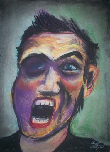 """Drawing titled """"""""Rebel Yell"""""""" by Dondavid, Original Art, Other"""