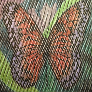 """Drawing titled """"Butterfly Series 2"""" by Don Weber, Original Art, Pastel"""