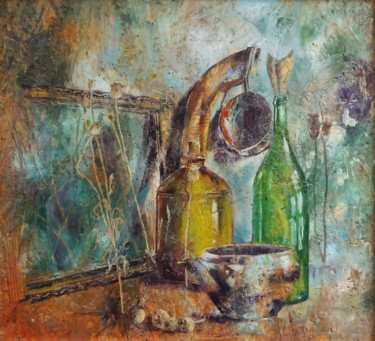 Still life Painting, wax, impressionism, artwork by Dora Stork
