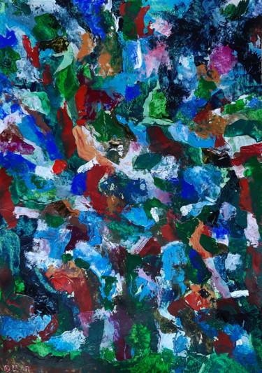 """Painting titled """"UNTITLED - LARGE AB…"""" by Ulugbek Doschanov, Original Art, Acrylic"""