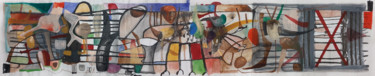 """Painting titled """"""""Yatra"""". Large abst…"""" by Ulugbek Doschanov, Original Art, Acrylic"""
