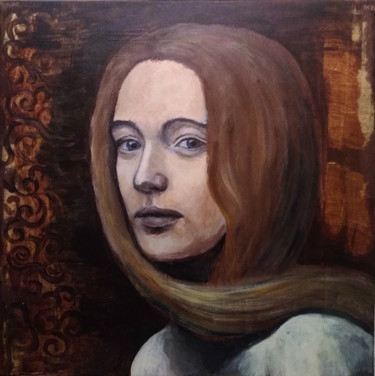 """Painting titled """"Lady"""" by Krughoff, Original Art, Acrylic"""