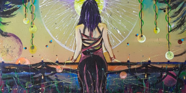 """Painting titled """"WICCA"""" by Dragos Bagia, Original Art, Oil"""