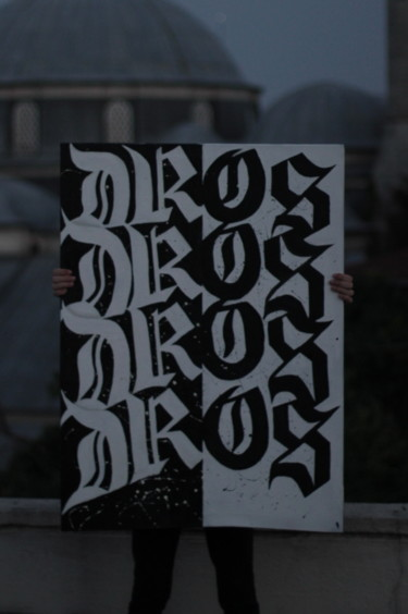 Painting, spray paint, calligraphy, artwork by Dros