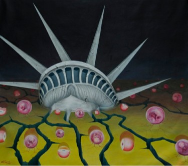 """Painting titled """"Fragile freedom"""" by Dam Tung, Original Art, Oil"""