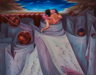 """Painting titled """"Love song"""" by Dam Tung, Original Art, Oil"""