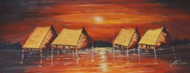 """Painting titled """"itansan oorun"""" by Duduhandsome, Original Art, Oil"""