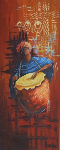 """Painting titled """"the Big Drum"""" by Duduhandsome, Original Art, Oil"""