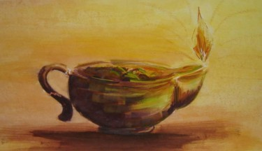 """Painting titled """"The Lamp"""" by Duduhandsome, Original Art,"""