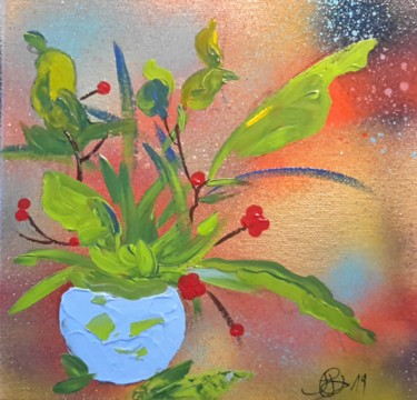 Painting, acrylic, expressionism, artwork by Jean-Pierre Duquaire
