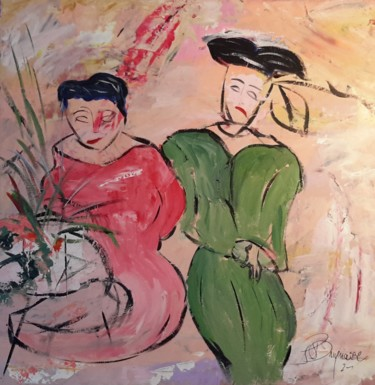 Color Painting, acrylic, expressionism, artwork by Jean-Pierre Duquaire