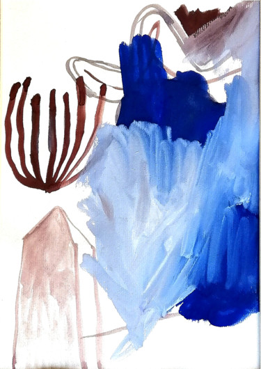 Drawing, acrylic, abstract, artwork by Dusan Stosic