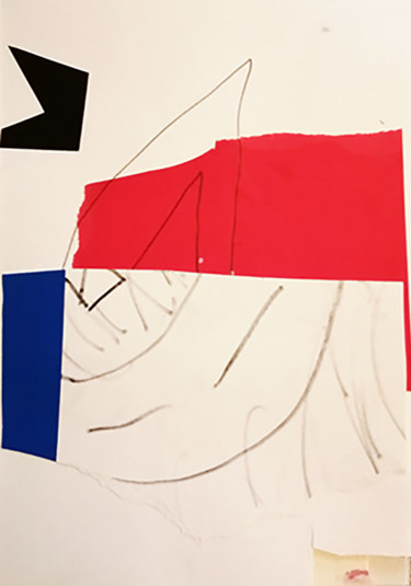 Abstract Drawing, collages, abstract, artwork by Dusan Stosic