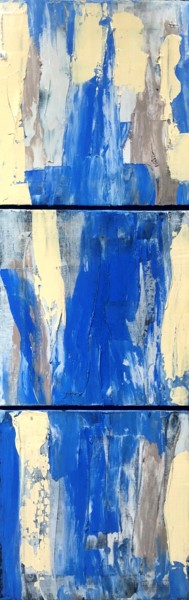 """Painting titled """"Abstract in Blue"""" by Dutch Montana, Original Art, Oil"""