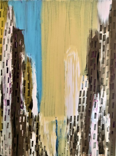 """Painting titled """"Spring in Manhattan…"""" by Dutch Montana, Original Art, Oil Mounted on Stretcher frame"""