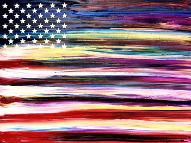 """Painting titled """"Freedom 3"""" by Dutch Montana, Original Art, Oil Mounted on Stretcher frame"""