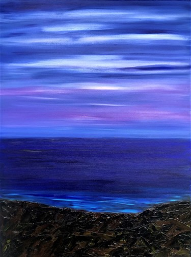 """Painting titled """"Pacific at Dusk"""" by Dutch Montana, Original Art, Oil"""