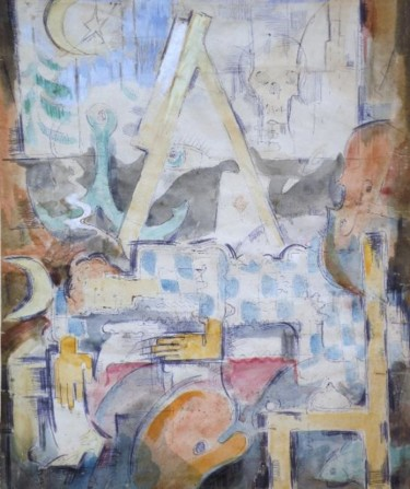 15.8x13.4 in ©1956 by Eve B'AY
