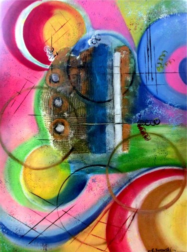 Painting, oil, abstract, artwork by Kwiatuszek