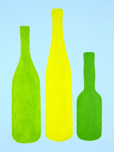 """Painting titled """"bottles"""" by Ed Weyden, Original Art, Acrylic"""