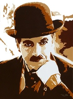"""Painting titled """"CHARLOT"""" by Edouard Aguilo, Original Art,"""