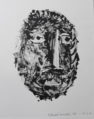 Printmaking, monotype, figurative, artwork by Edouard Leruste