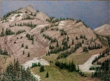"""Drawing titled """"In the North Cascad…"""" by Edwin Loftus, Original Art, Pencil Mounted on Other rigid panel"""