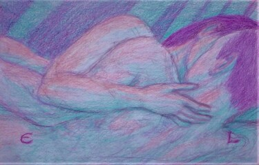 """Drawing titled """"Lovers 49"""" by Edwin Loftus, Original Art, Pastel Mounted on Other rigid panel"""