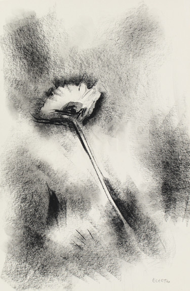Drawing, charcoal, figurative, artwork by Etienne Eczet
