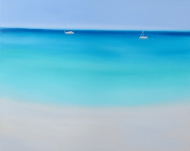 Beach Painting, oil, minimalism, artwork by Elena//K.Smith
