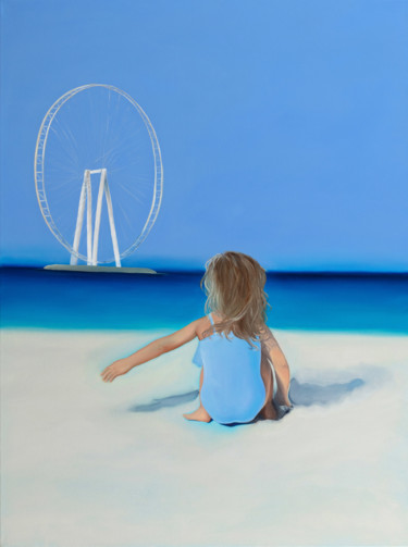 """Painting titled """"Let""""s play with the…"""" by Elena//K.Smith, Original Art, Oil Mounted on Stretcher frame"""
