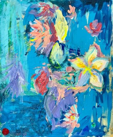 """Painting titled """"Flowers - office ar…"""" by Елена Ильина, Original Art, Acrylic"""