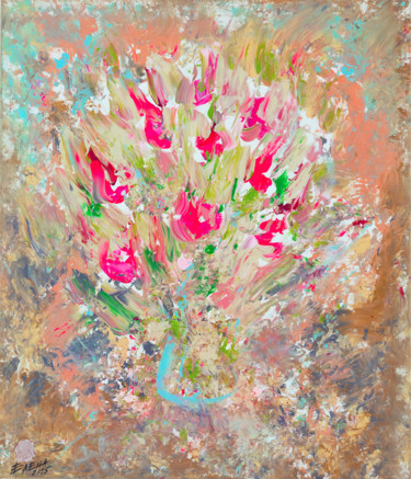 """Painting titled """"ROSES - - floral ar…"""" by Елена Ильина, Original Art, Acrylic"""