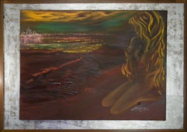 """Painting titled """"Night Reflection -…"""" by Elena Dimopoulos, Original Art,"""