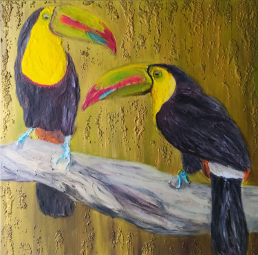"""Painting titled """"EXOTIC RELATIONSHIP…"""" by Liliia Iuldasheva, Original Art, Oil"""