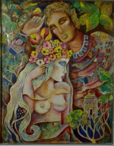 Love Painting, oil, symbolism, artwork by Eliane Betton