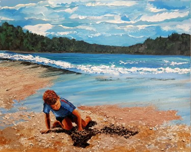 """Painting titled """"On the seashore of…"""" by Eli Gross, Original Art, Acrylic"""