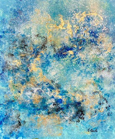 """Painting titled """"Silvery Stars"""" by Elisa Cook, Original Art, Acrylic"""