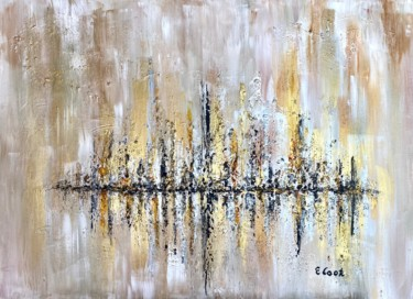 """Painting titled """"Glittering City"""" by Elisa Cook, Original Art, Acrylic"""