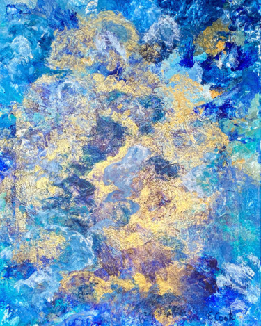 """Painting titled """"Golden Nights"""" by Elisa Cook, Original Art, Acrylic"""