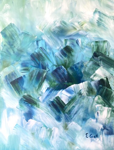 """Painting titled """"Ryming in Blue"""" by Elisa Cook, Original Art, Acrylic"""