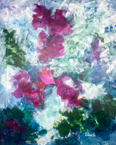 """Painting titled """"Songs of Bougainvil…"""" by Elisa Cook, Original Art, Acrylic"""