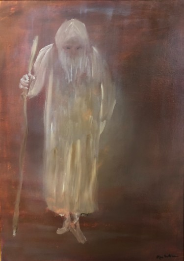 """Painting titled """"The Shepherd"""" by Eliza Matica, Original Art, Oil"""