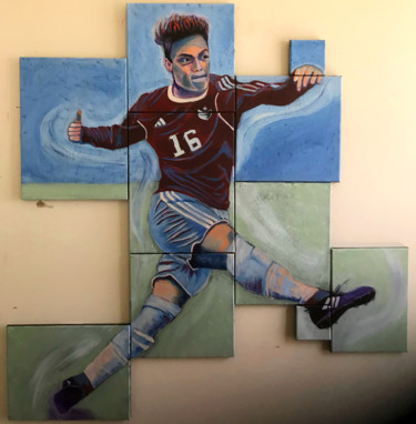 """Painting titled """"Soccer Player"""" by Elle Mccarthy, Original Art, Acrylic"""