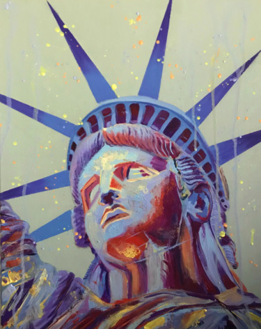 """Painting titled """"Lady Liberty"""" by Elle Mccarthy, Original Art, Acrylic"""