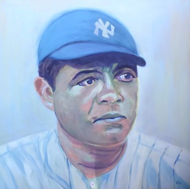 """Painting titled """"Babe Ruth - circa 1…"""" by Elle Mccarthy, Original Art, Acrylic"""