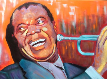 """Painting titled """"Louis Armstrong"""" by Elle Mccarthy, Original Art, Acrylic"""