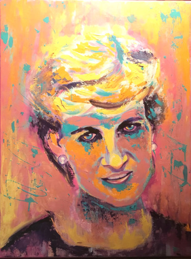 """Painting titled """"Diana, Princess of…"""" by Elle Mccarthy, Original Art, Acrylic"""