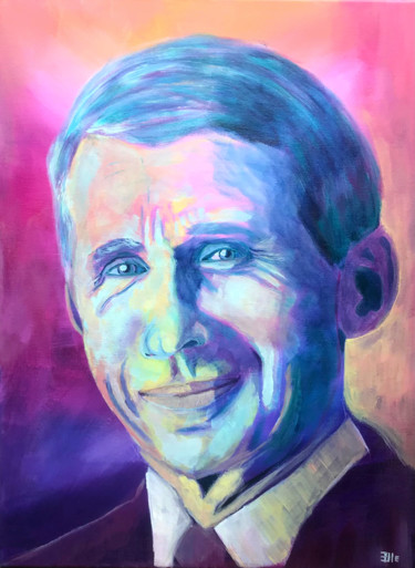 """Painting titled """"Dr Fauci"""" by Elle Mccarthy, Original Art, Acrylic"""